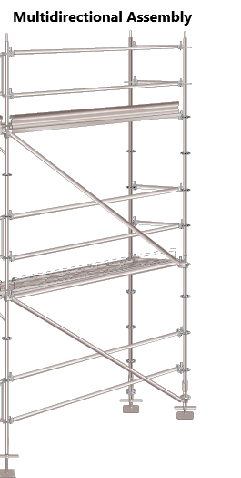 Multidirectional scaffold assembly